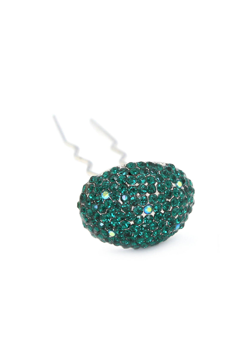 Crystal Mushroom Hair Stick -  Stick, Soho Style, dark green