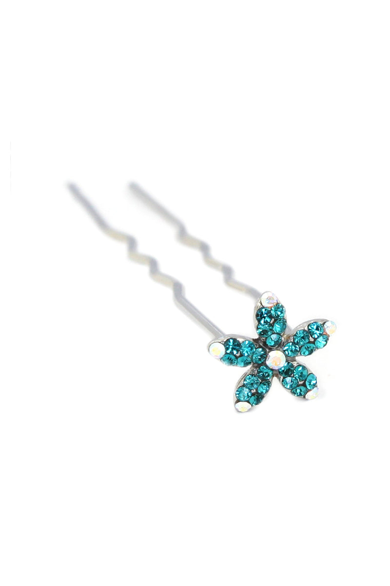 Soho Style Stick Emerald Small Crystal Daisy Hair Stick