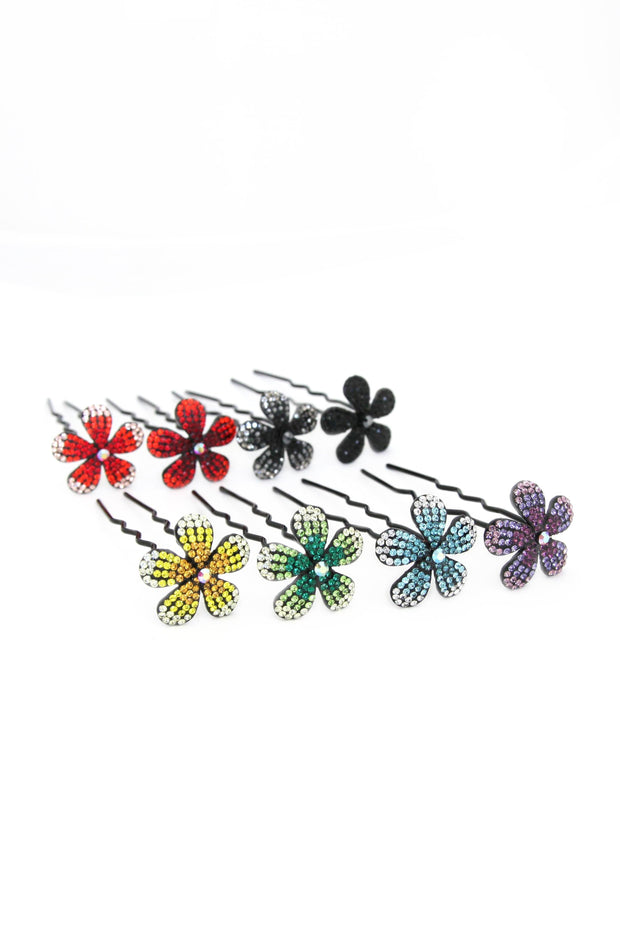 Soho Style Stick green Ombre Crystal Flower Hair Stick