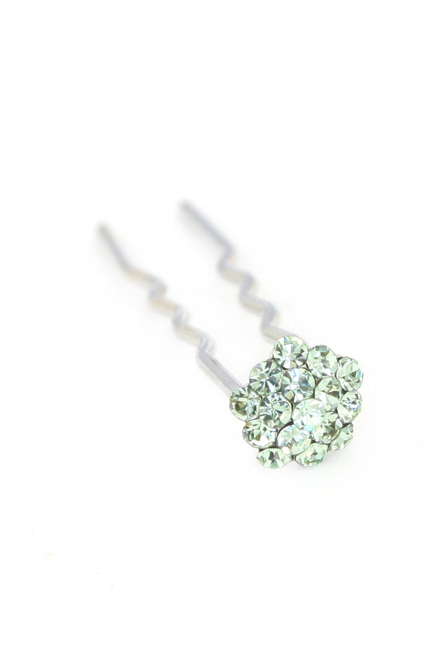 Soho Style Stick mint Mini Crystal Cluster Hair Stick