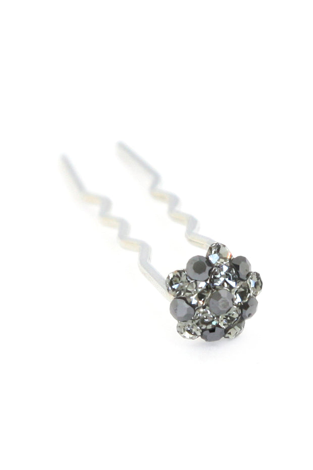 Soho Style Stick Multi- Black Mini Crystal Cluster Hair Stick
