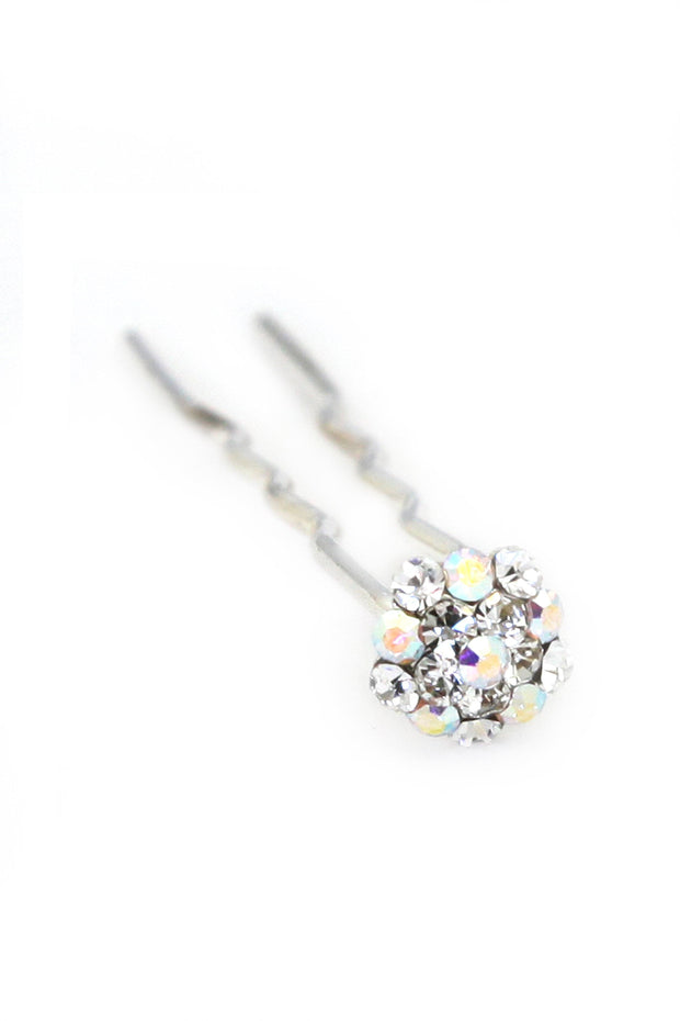 Soho Style Stick Multi- Clear Mini Crystal Cluster Hair Stick