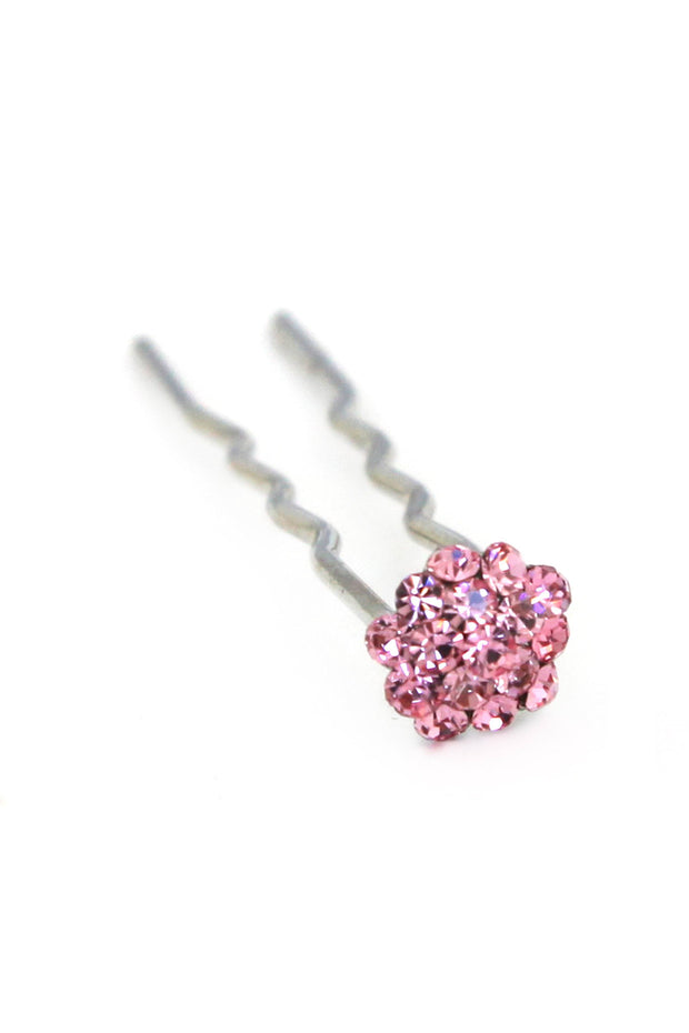 Soho Style Stick Multi- Pink Mini Crystal Cluster Hair Stick