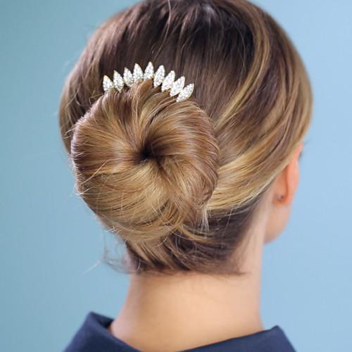 Soho Style Stick Multi-Tone Almond Crystal Hair Stick