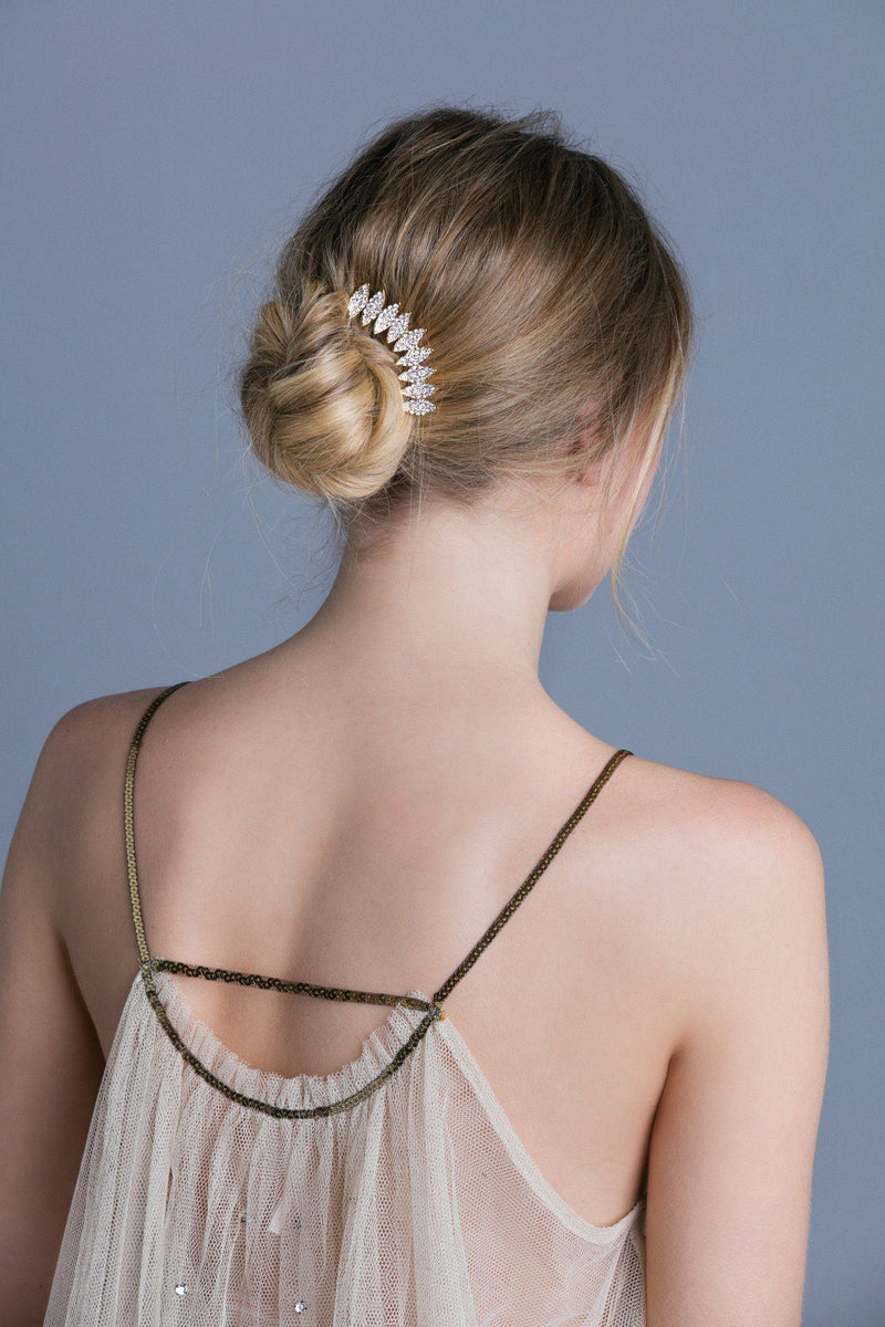 Multi-Tone Almond Crystal Hair Stick Stick Soho Style