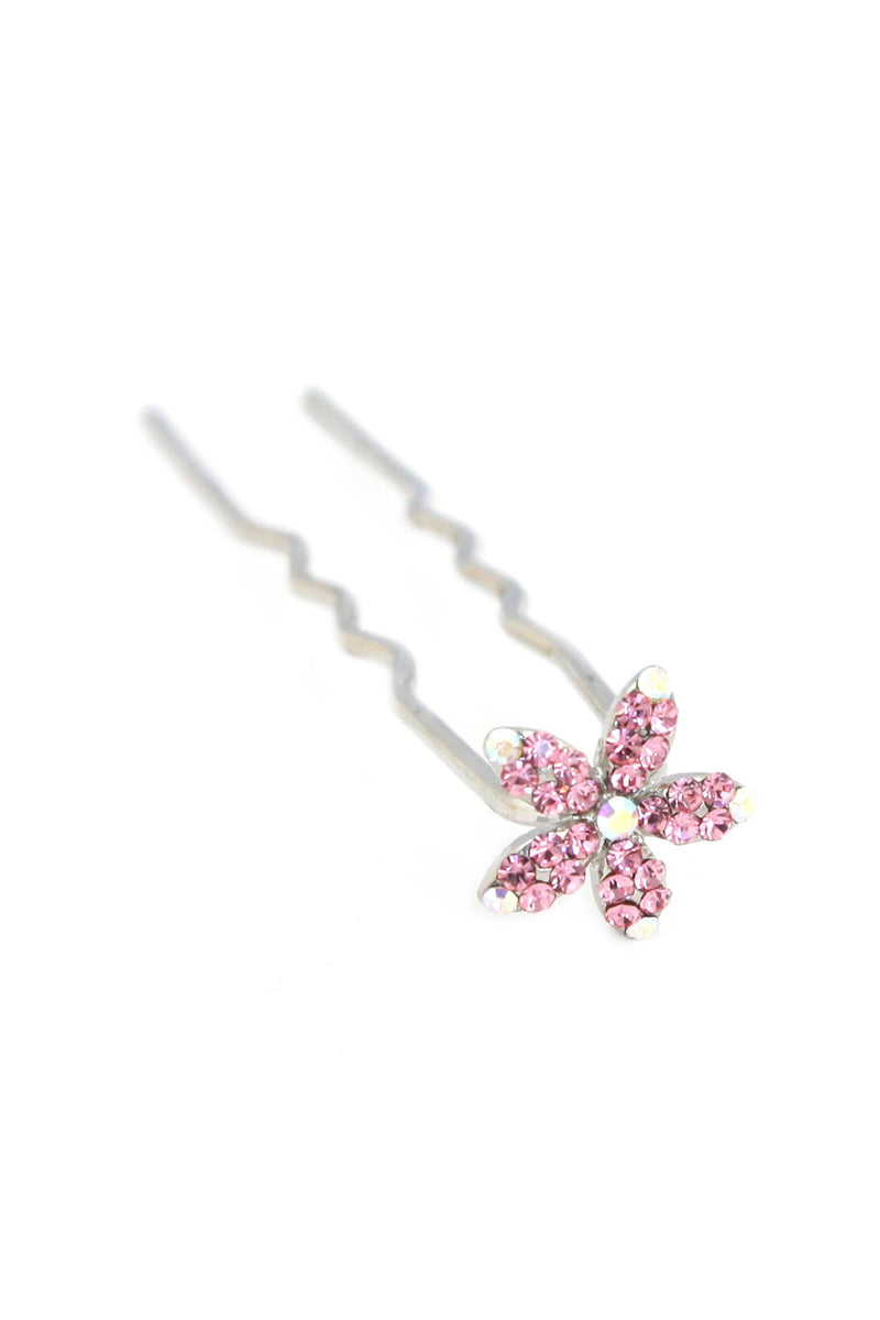 Soho Style Stick Pink Small Crystal Daisy Hair Stick