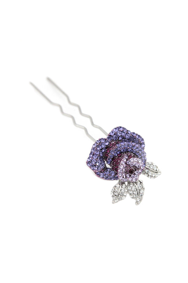 Soho Style Stick Purple Rose Hair Stick