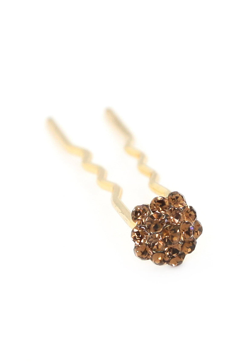 Soho Style Stick Smokey Topaz Mini Crystal Cluster Hair Stick