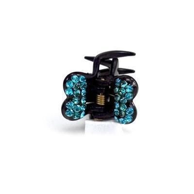 Soho Style value set Aqua / Set of 5 Mini Butterfly Hair Jaw with Crystal Covered Wings Value Set