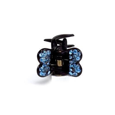 Soho Style value set Blue / Set of 5 Mini Butterfly Hair Jaw with Crystal Covered Wings Value Set