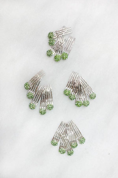 Crystal Cluster Mini Hair Comb 20 Set -  value set, Soho Style