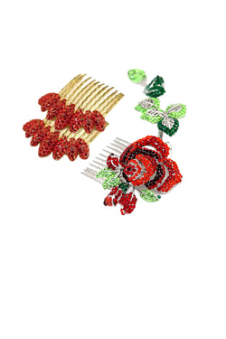 ROMANTIC ROSE HAIR COMB set ($270 value) - Soho Style
