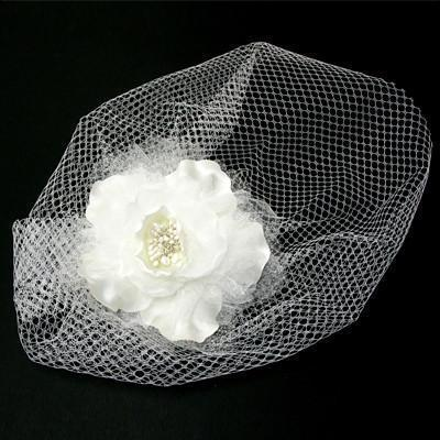 Glittery Flower with Lace Veil Wedding Soho Style