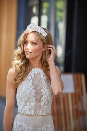 Soho Style Wedding Lucile Crystal Crown Tiara