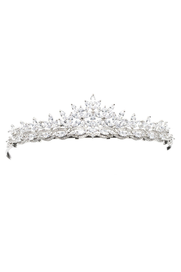 Soho Style Wedding Oralia Crystal Crown Tiara