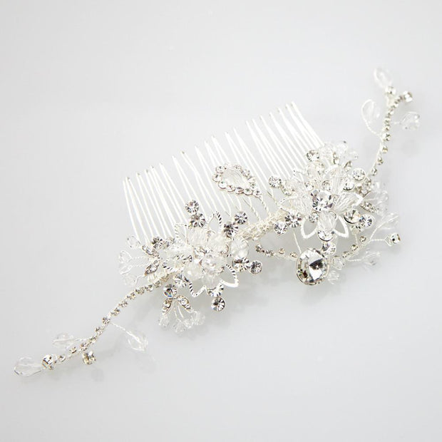 Soho Style Wedding Vintage wired crystal comb