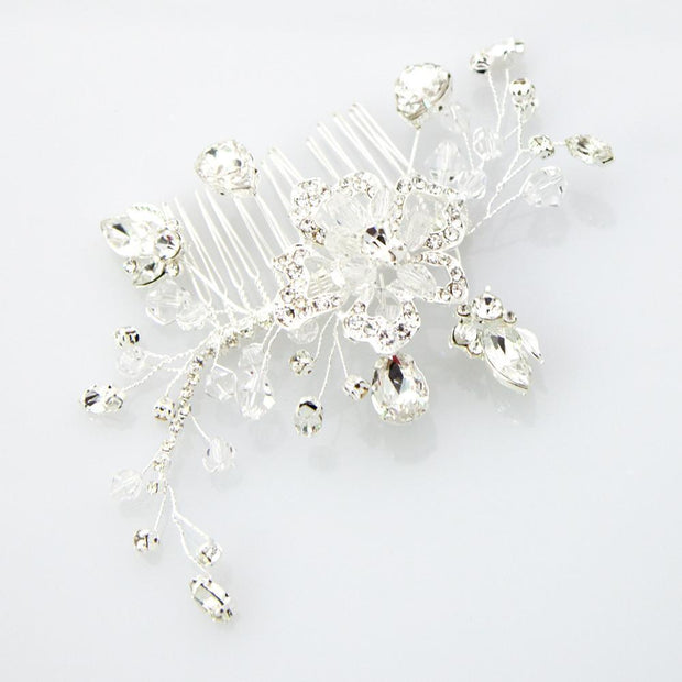 Soho Style Wedding Wired Crystal Hair Comb