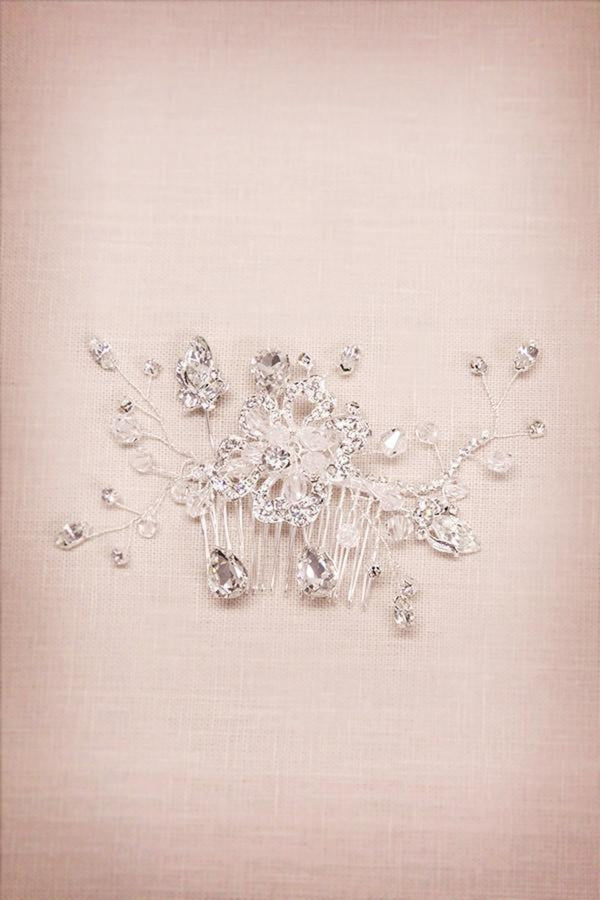 Wired Crystal Hair Comb Wedding Soho Style
