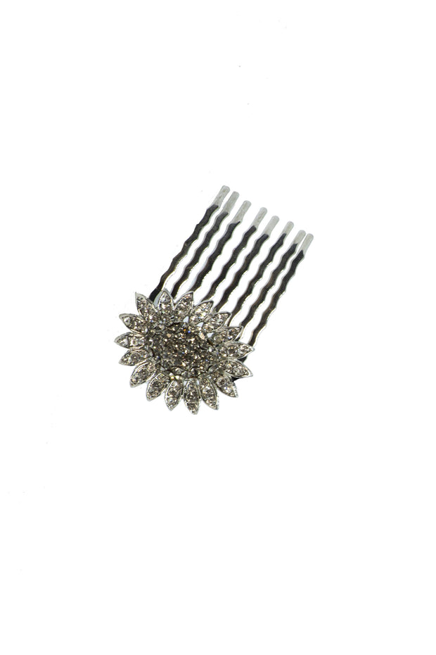 Evening Sunflower Crystal Hair Comb