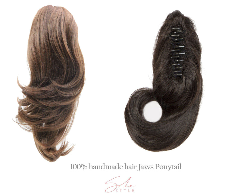 "Susan - 16"" Futura Wavy Jaw Clip-In Ponytail Extension Hair Extension Soho Style"