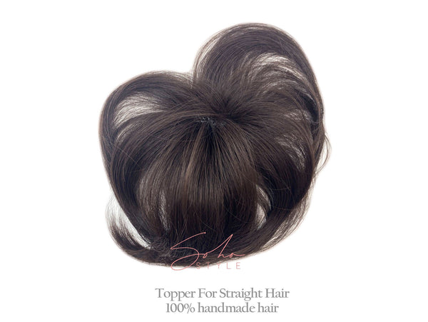 "Tyler - 7"" Synthetic Short Hair Clip-In Top Piece Extension Hair Extension Soho Style"