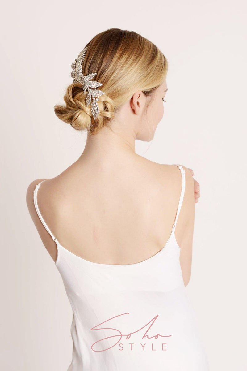 Sliver Crystal Bridal Hair Comb Wedding Sale