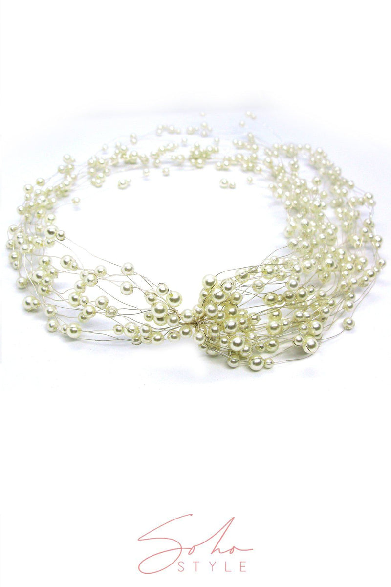 Baby's Breath Halo Headpiece Wedding Sale
