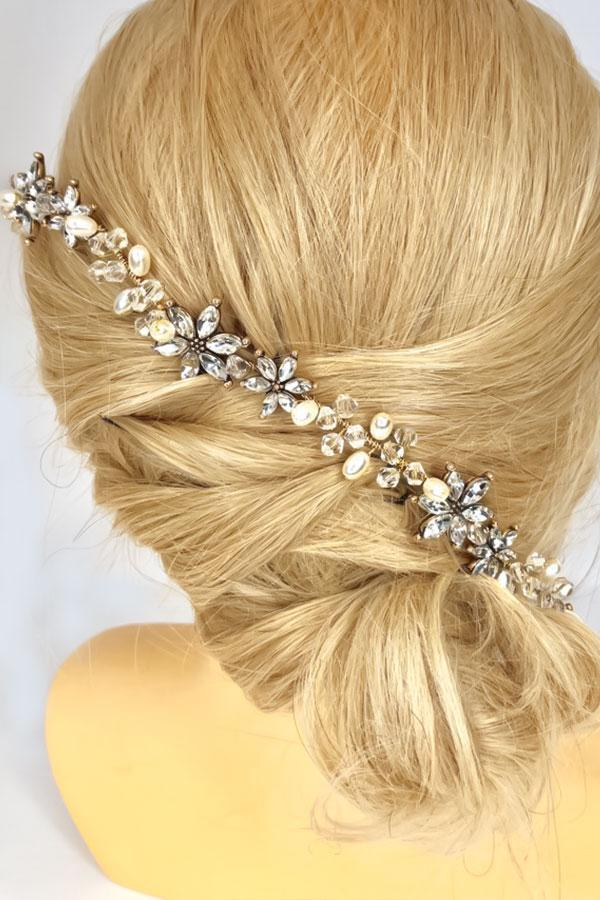 Florence Crystal Hair Crown