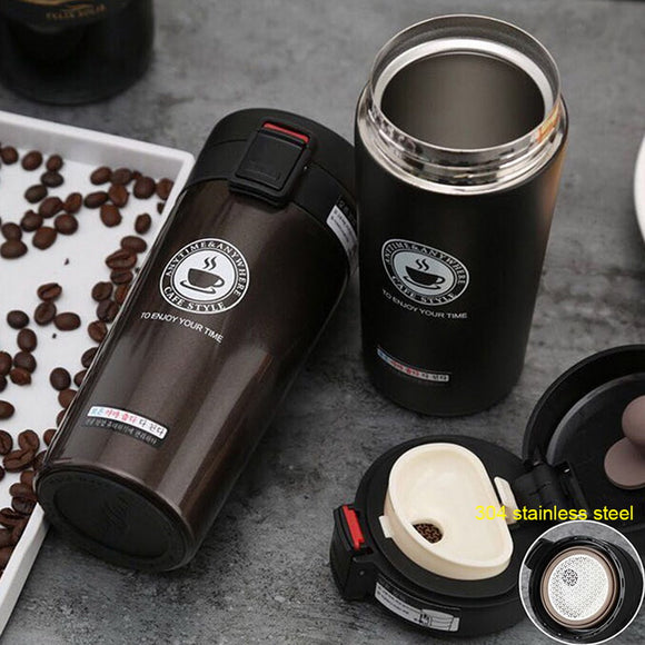 380/500ml Portable Travel Coffee Mug Vacuum Flask Thermo Water Bottle Car Mug Thermocup