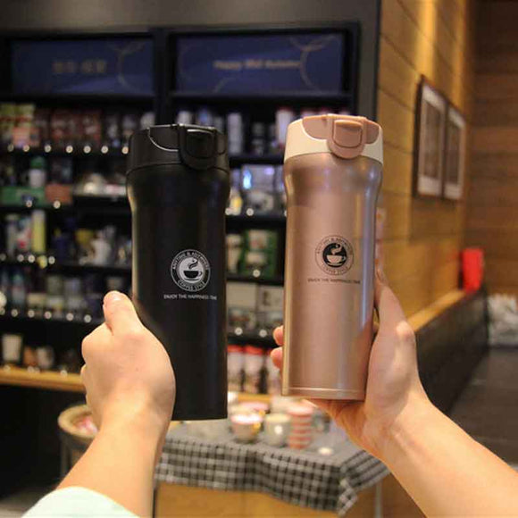 Hot Quality Double Wall Stainless Steel Vacuum Flasks 350ml 500ml Car Thermo Cup Coffee Tea Travel Mug