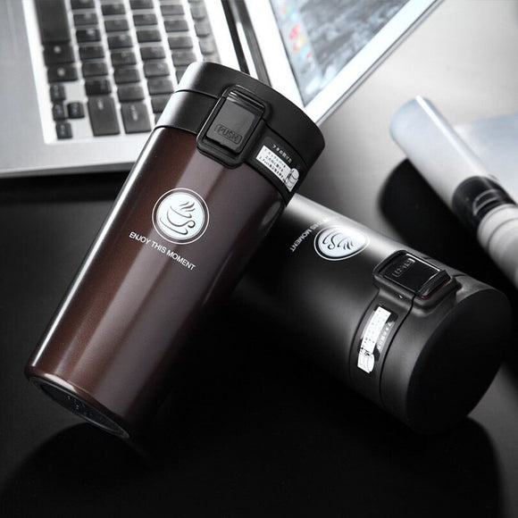 Keelorn Hot Sale Double Wall Stainless Steel Coffee Thermos Cup Mugs Thermal Bottle 500ml Thermocup Vacuum Flask Cups
