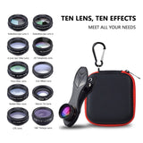 APEXEL 10in1 Phone Camera Lens Kit
