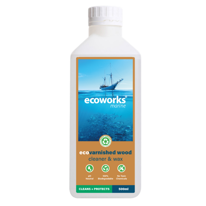 eco varnish wood cleaner & wax - Ecoworks Marine Cleaning Products