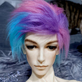 Sweet Cotton Candy Color Fur Wig