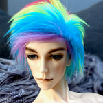 Rainbow Color Fur Wig