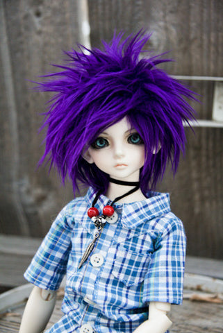 PURPLE Color Fur Wig