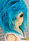 Cerulean Blue Color Fur Wig