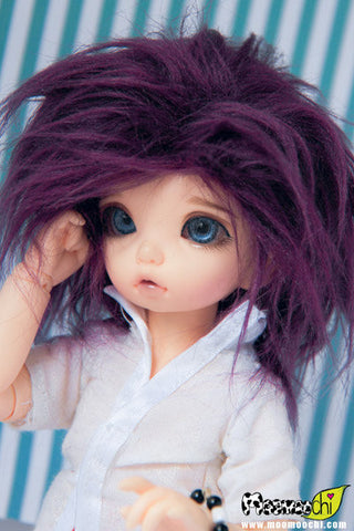 Imperial Purple Color Fur Wig
