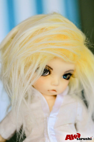 Ombre Yellow Color Fur Wig