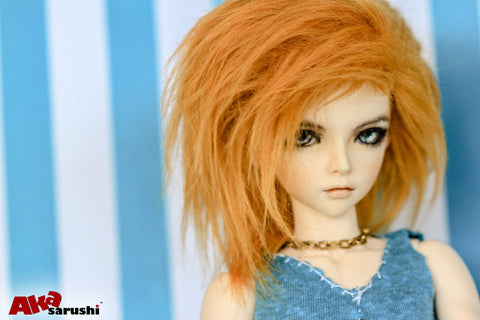 Apricot Color Fur Wig