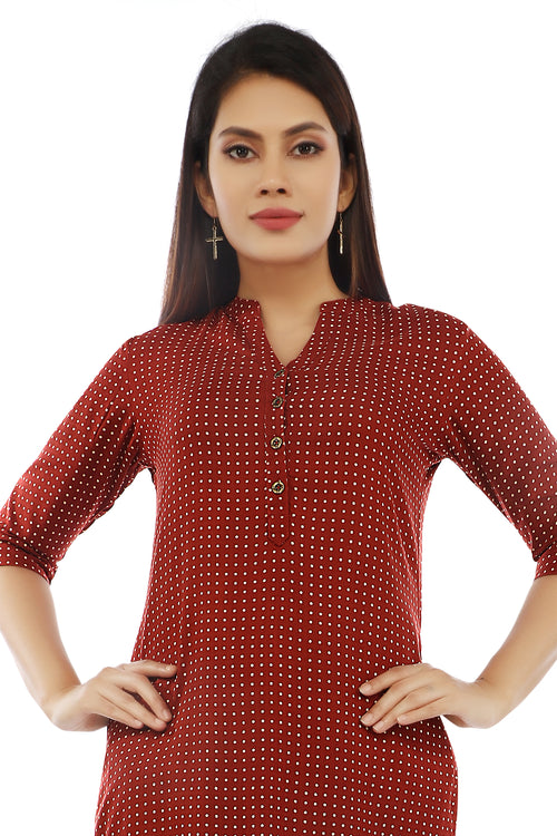 Red Polka Dot Kurta