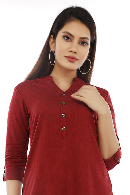 Red Essential Kurta