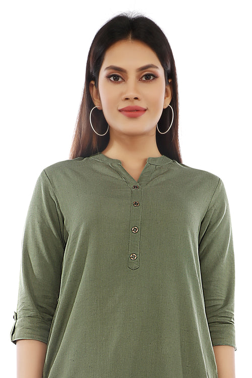 Hunter Green Essential Kurta
