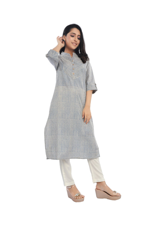 Blue Stripe Essential Kurta