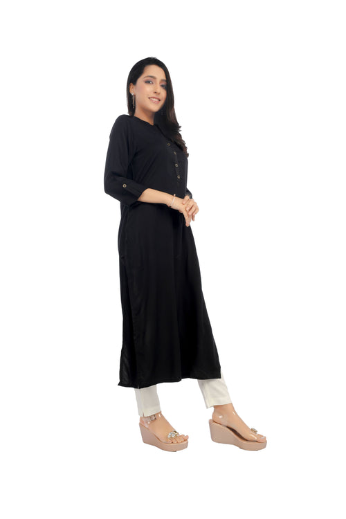 Black Essential Kurta