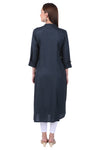 Dark Blue Essential A-Line Kurta