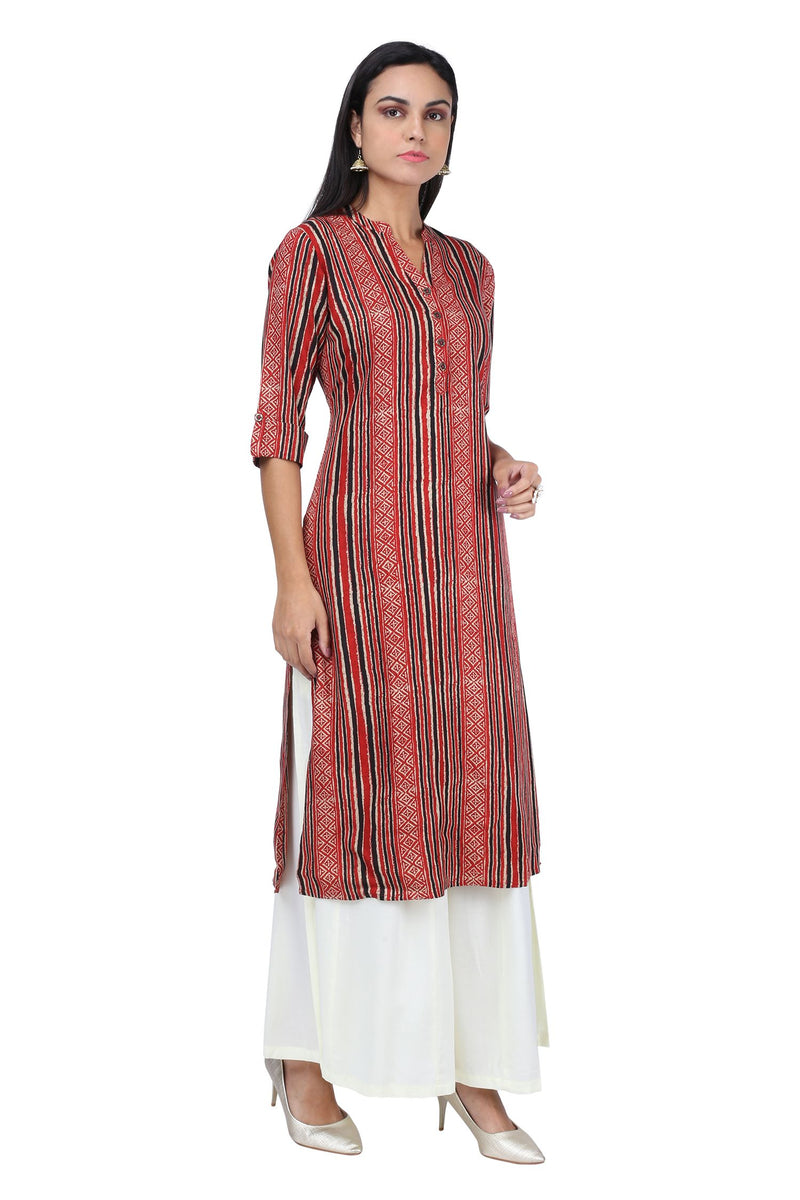 Red Stripe Kurta