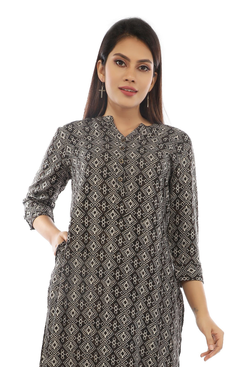 Black Diamond Printed Kurta