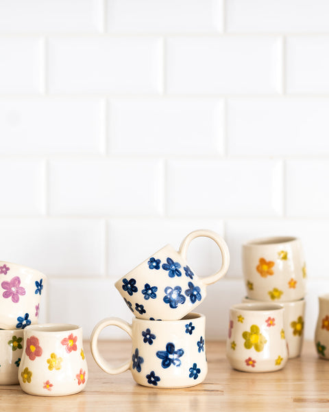 Flower Power Mug - Blue