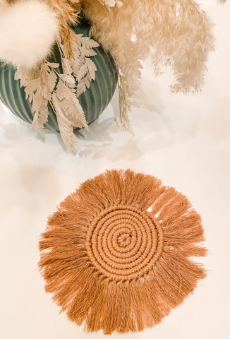 Blush Macrame Coaster